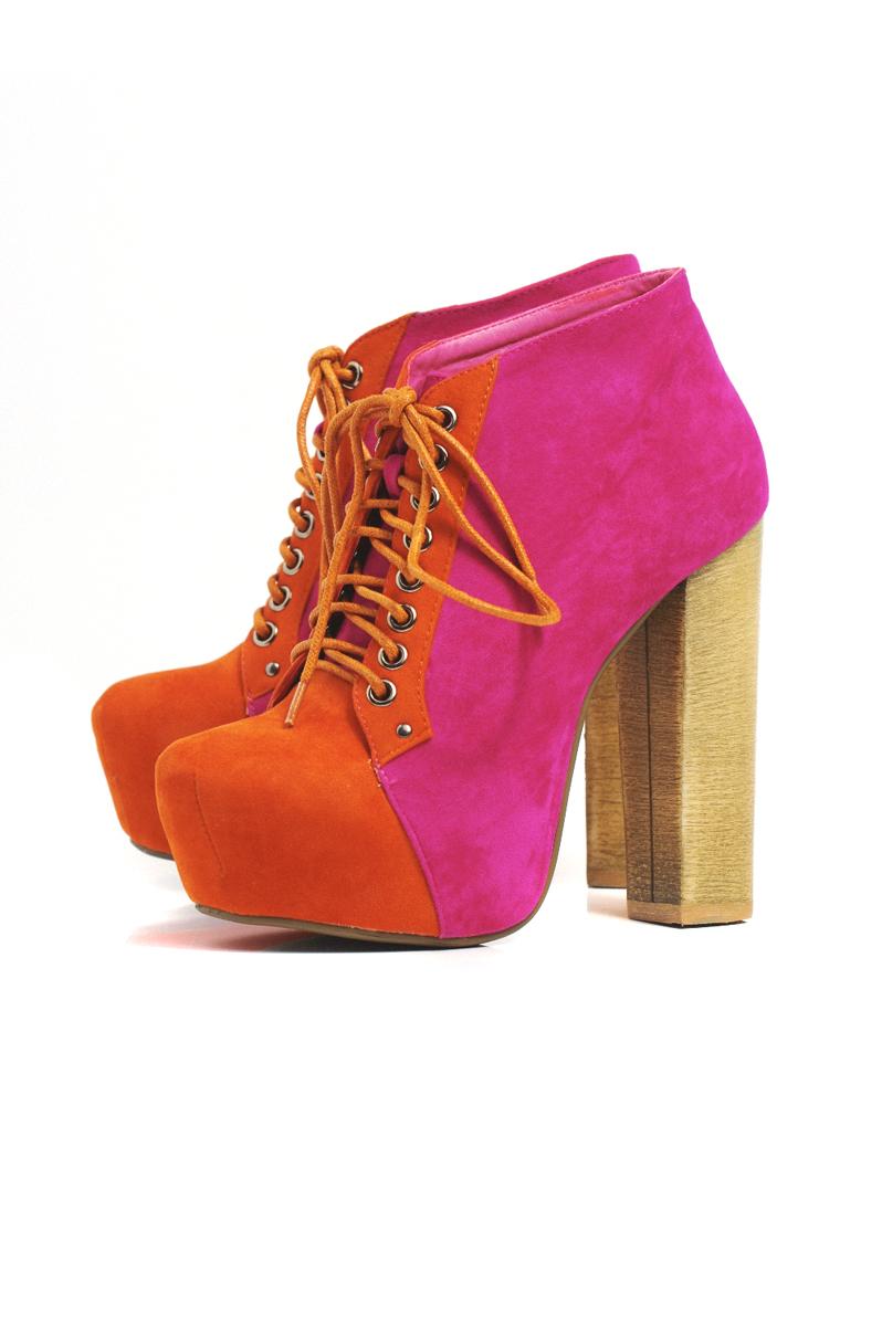 Chunky Heel Shoe Boots